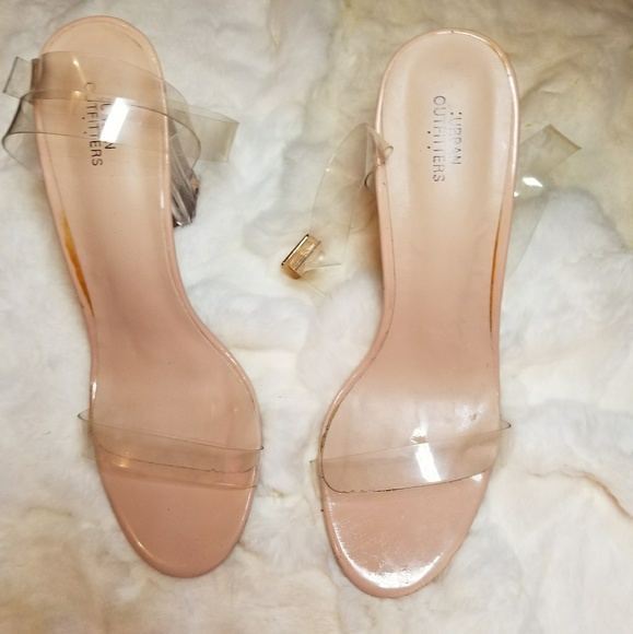 5dbddceca1a Urban Outfitters Shoes | Clear Heel Sandals | Poshmark